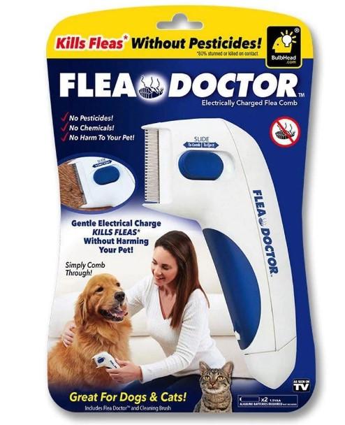 Электрическая расческа для животных Flea Doctor с функцией уничтожения блох