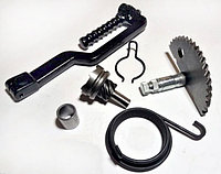 Заводний механізм кикстартера 139QMB 4T GY6 50/80сс (півмісяць, храповик, ніжка) скутер 4т Китай