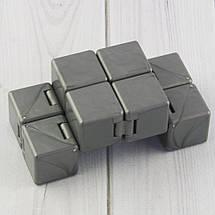 Кубик антистресс Infinity Cube (серебро), фото 3