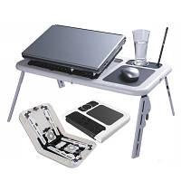 Cтолик для ноутбука с охлаждением 2 USB кулерами LD 09 E-TABLE, подставка столик для ноутбука, фото 1