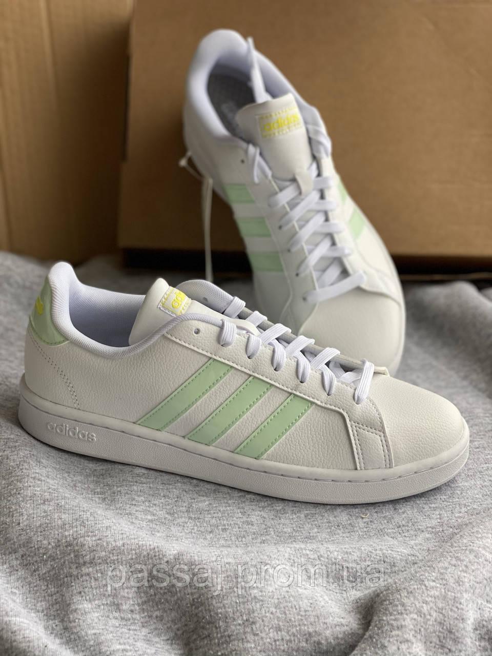 Белые кеды adidas grand court новые из натуральной кожи оригинал