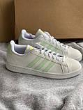 Белые кеды adidas grand court новые из натуральной кожи оригинал, фото 3