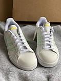 Белые кеды adidas grand court новые из натуральной кожи оригинал, фото 4
