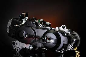 Двигатель Yaben GY6 80 длинная база (длинный вал, 2 амортизатора)