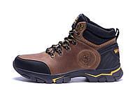 Мужские зимние кожаные ботинки Jack Wolfskin Outdoor Olive (реплика)