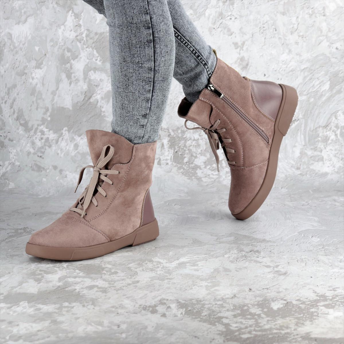 Ботинки женские зимние розовые Arun 2328 (36 размер)