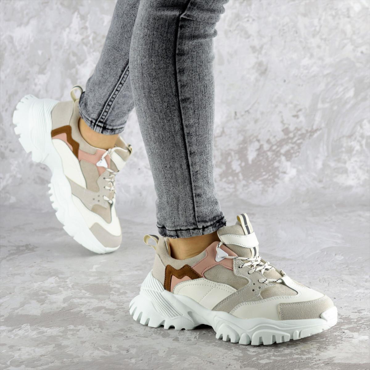 Кроссовки женские зимние бежевые Gabrielle 2363 (38 размер)