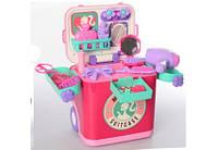 """Игровой набор детское трюмо в чемоданчике с аксессуарами """"Юная красавица"""" звук и свет эффекты"""