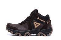Мужские зимние кожаные ботинки Reebok Crossfit Brown (реплика)