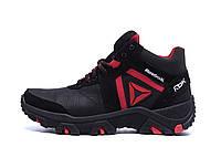 Мужские зимние кожаные ботинки Reebok Crossfit Red (реплика)