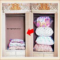 Вакуумные пакеты разных размеров, для эффективного хранения вещей. очень маленький (50х60 см)