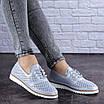 Женские кожаные туфли голубые Niky 1726 (36 размер), фото 6