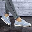 Женские кожаные туфли голубые Niky 1726 (36 размер), фото 7