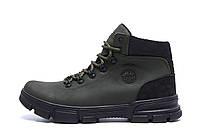 Мужские зимние кожаные кроссовки icefield Olive Classic (реплика)
