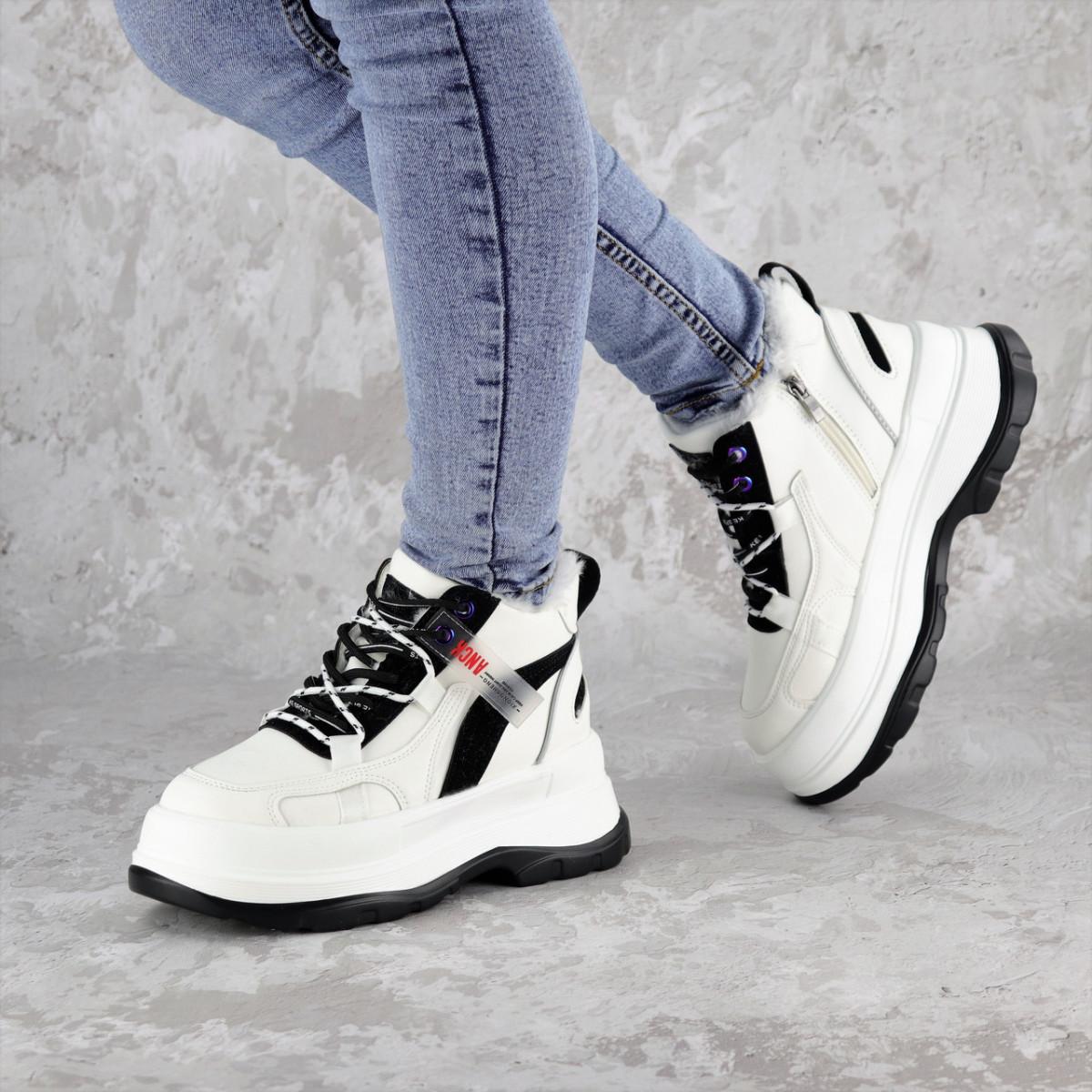 Кроссовки женские зимние белые Donno 2303 (36 размер)