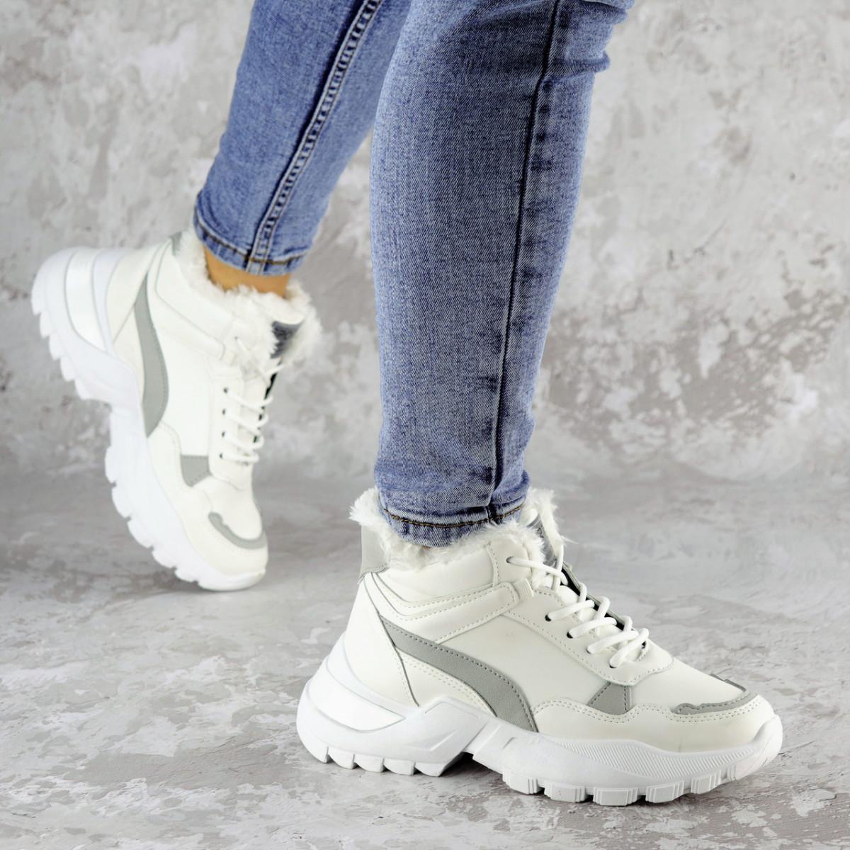 Кроссовки женские зимние белые Trix 2216 (37 размер)