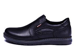Мужские кожаные туфли Kristan black old school