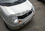 Дефлектор капота, Мухобойка Daewoo Matiz 2000-2013 (ANV), фото 3