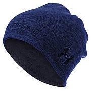 Шапка флисовая двухсторонняя UAR TY-1611 (флис, полэстер, цвета в ассортименте) (Синий-черный)