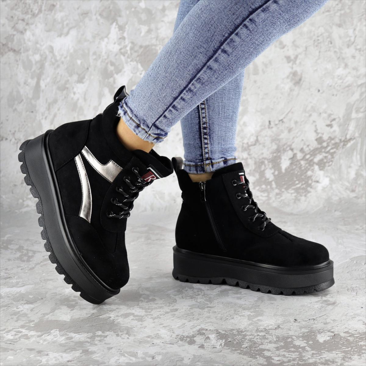 Ботинки женские зимние черные Chewer 2240 (38 размер)