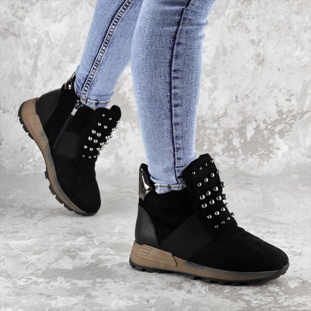 Ботинки женские зимние черные Haddie 2283 (36 размер)