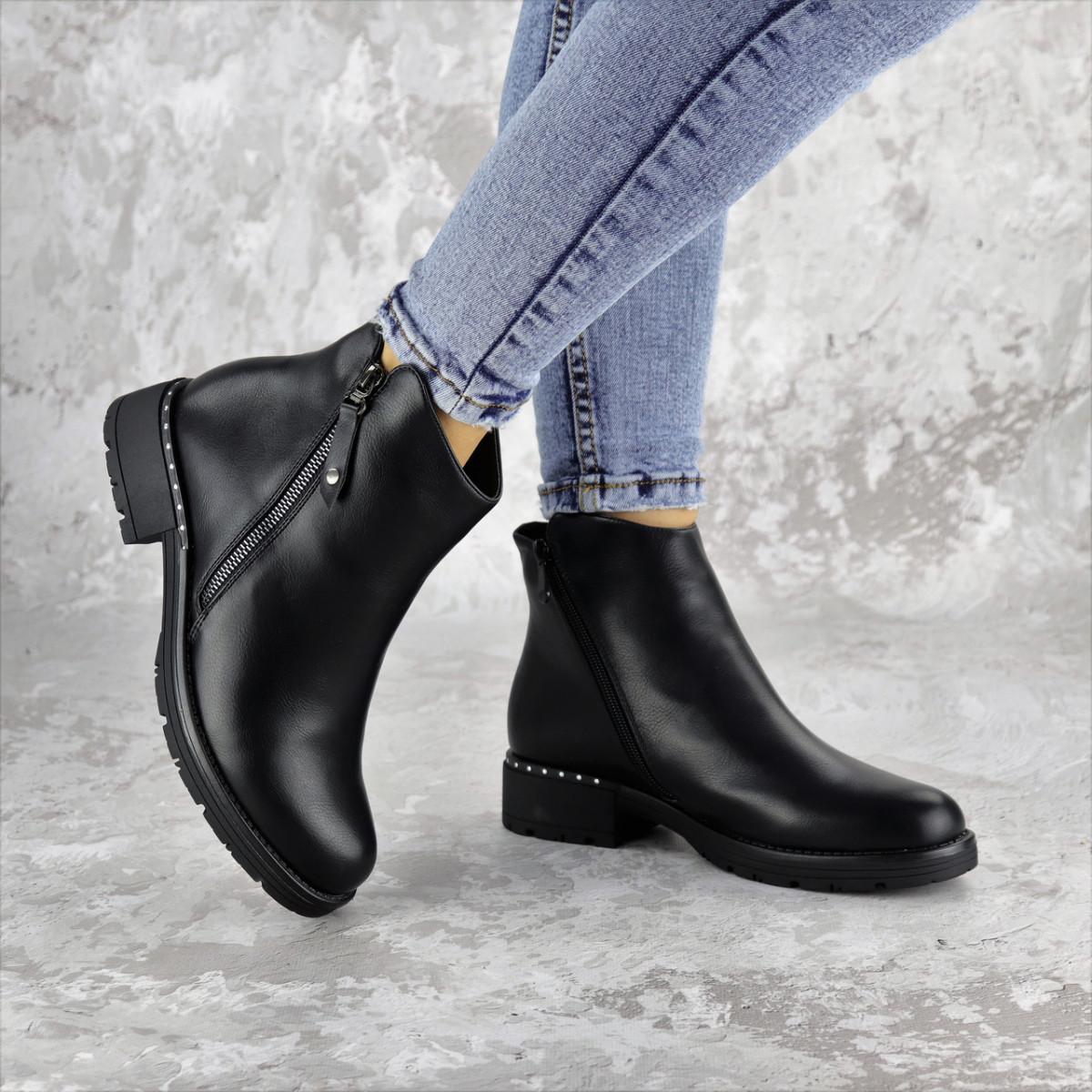 Ботинки женские зимние черные Jasper 2290 (38 размер)