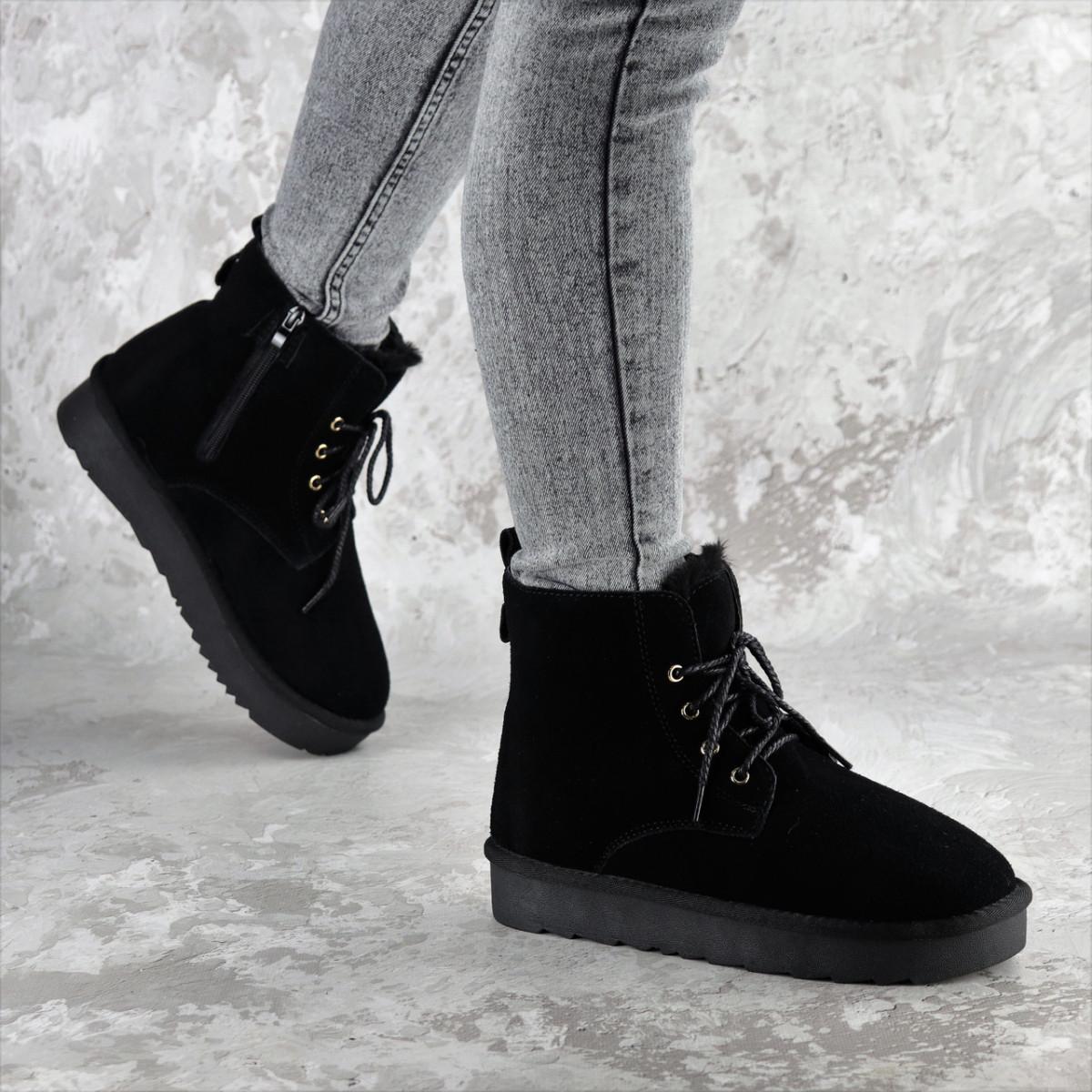 Ботинки женские зимние черные Roosevelt 2380 (36 размер)