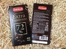 Шоколад черный 72% какао Dolciando Cioccolato Extra Fondente, 100г