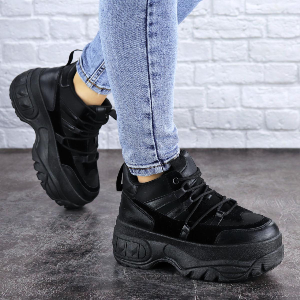 Кроссовки женские черные Cujo 2121 (36 размер)