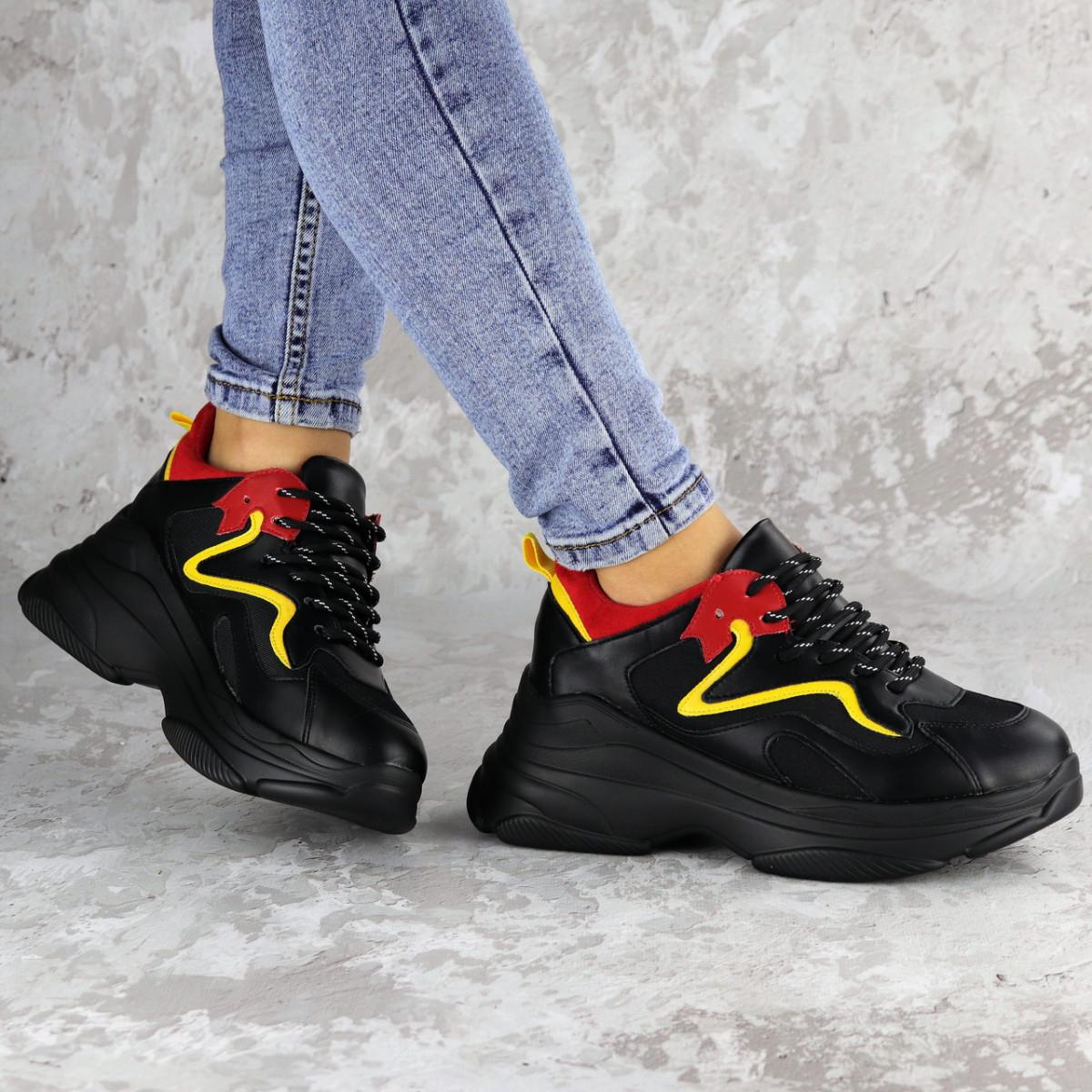 Кроссовки женские черные Noby 2138 (36 размер)