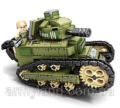 Конструктор Sembo, военная техника-танк,368 деталей, фото 3