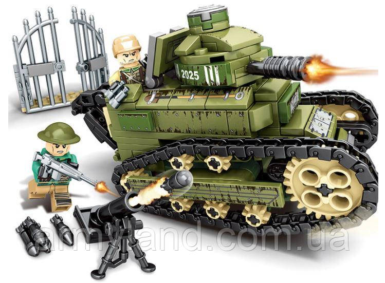 Конструктор Sembo, военная техника-танк,368 деталей