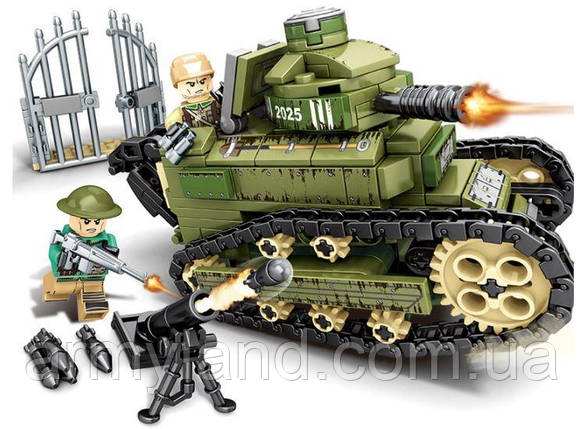 Конструктор Sembo, военная техника-танк,368 деталей, фото 2