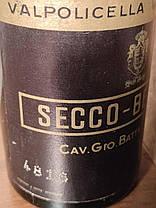 Вино 1959 года Secco-Bertani Италия, фото 2