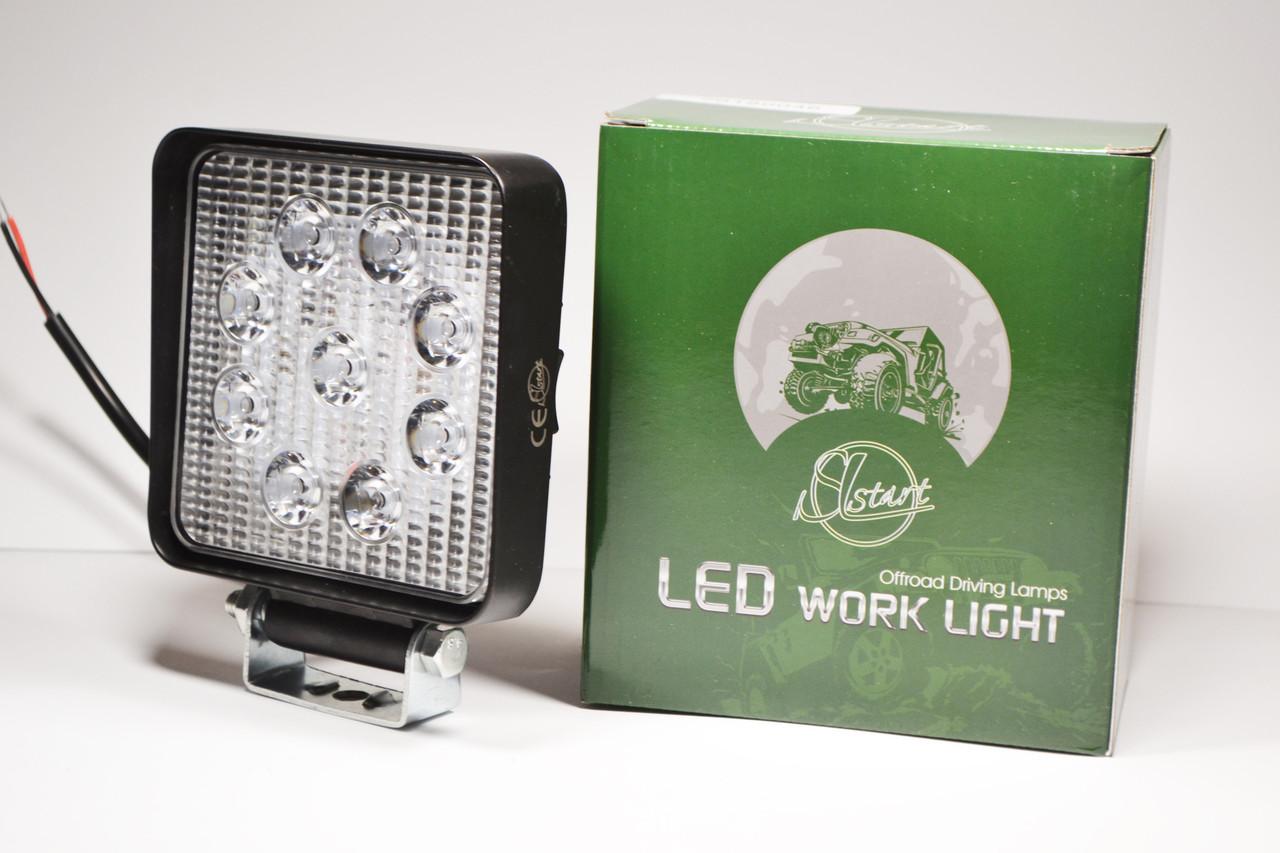 Светодиодная LED фара рабочая 27W/ 27Вт,(3Вт*9ламп) (SLstart)