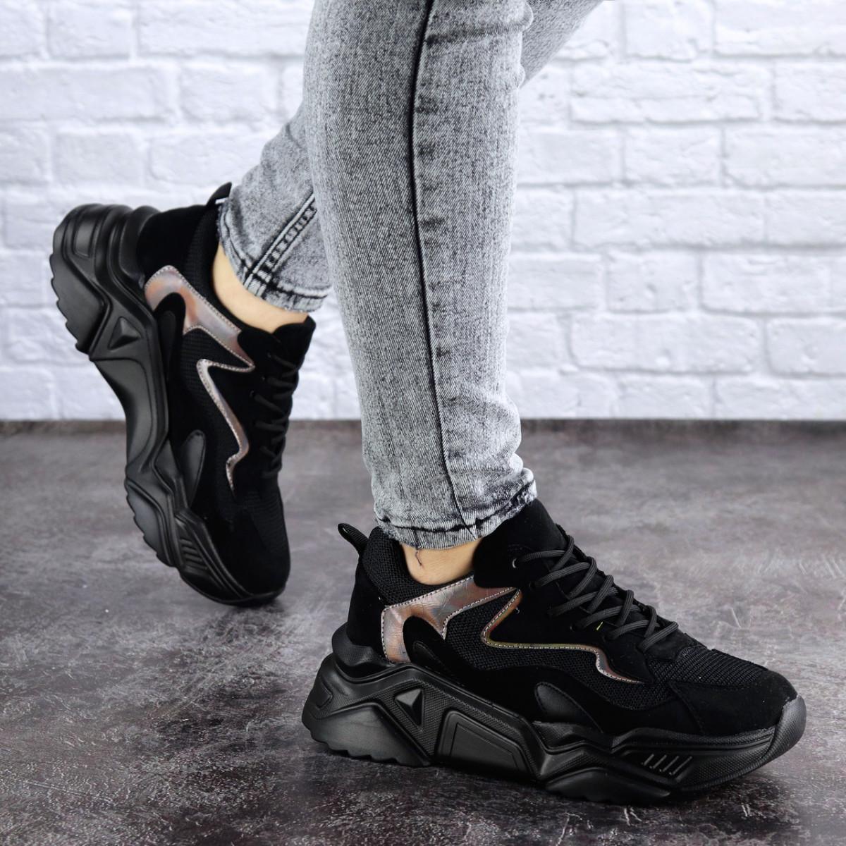 Женские кроссовки черные Apollo 1950 (37 размер)
