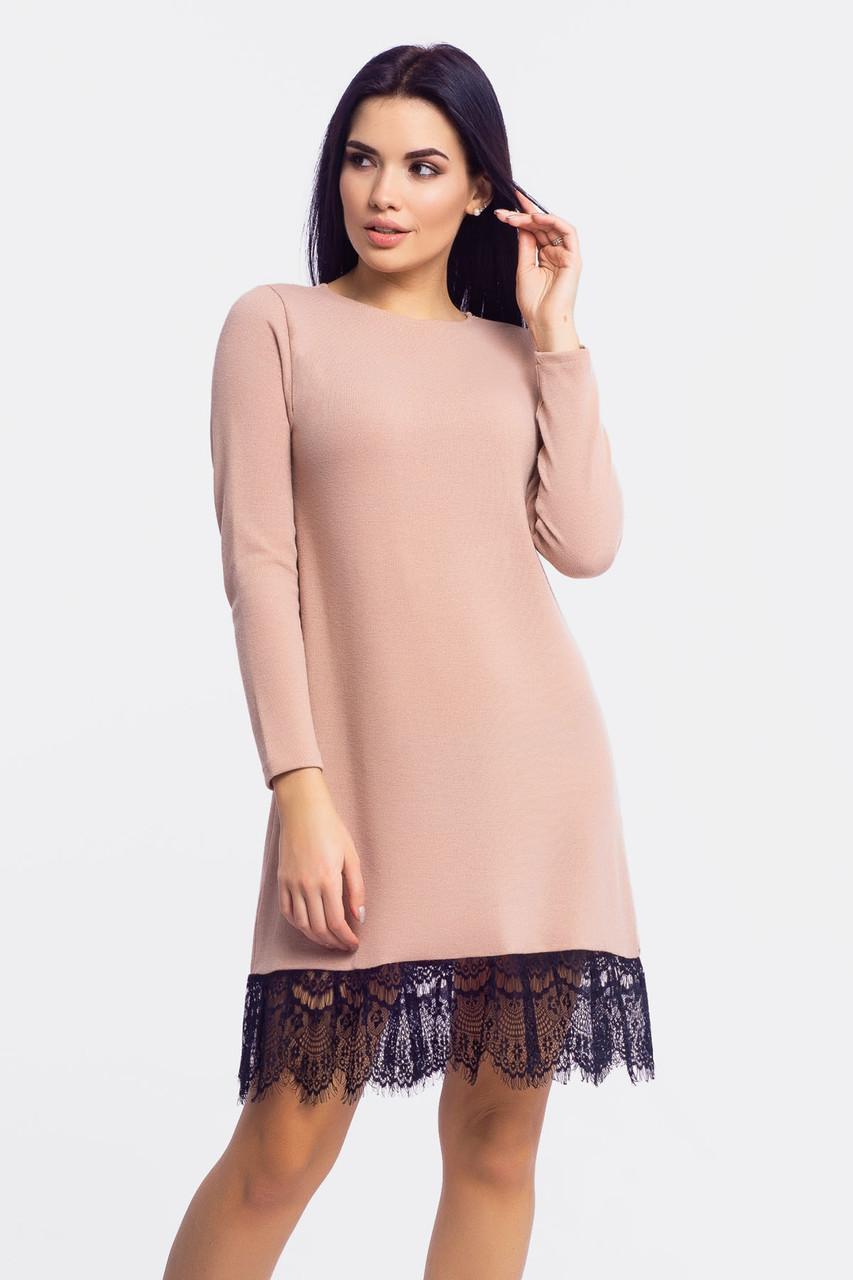 S, M, L   Жіноче плаття з ангори Rachel, бежевий