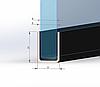 ODF-04-13-01-L2400 Профиль из нержавейки под стекло 8 мм (сатин) с отверстиями, фото 3