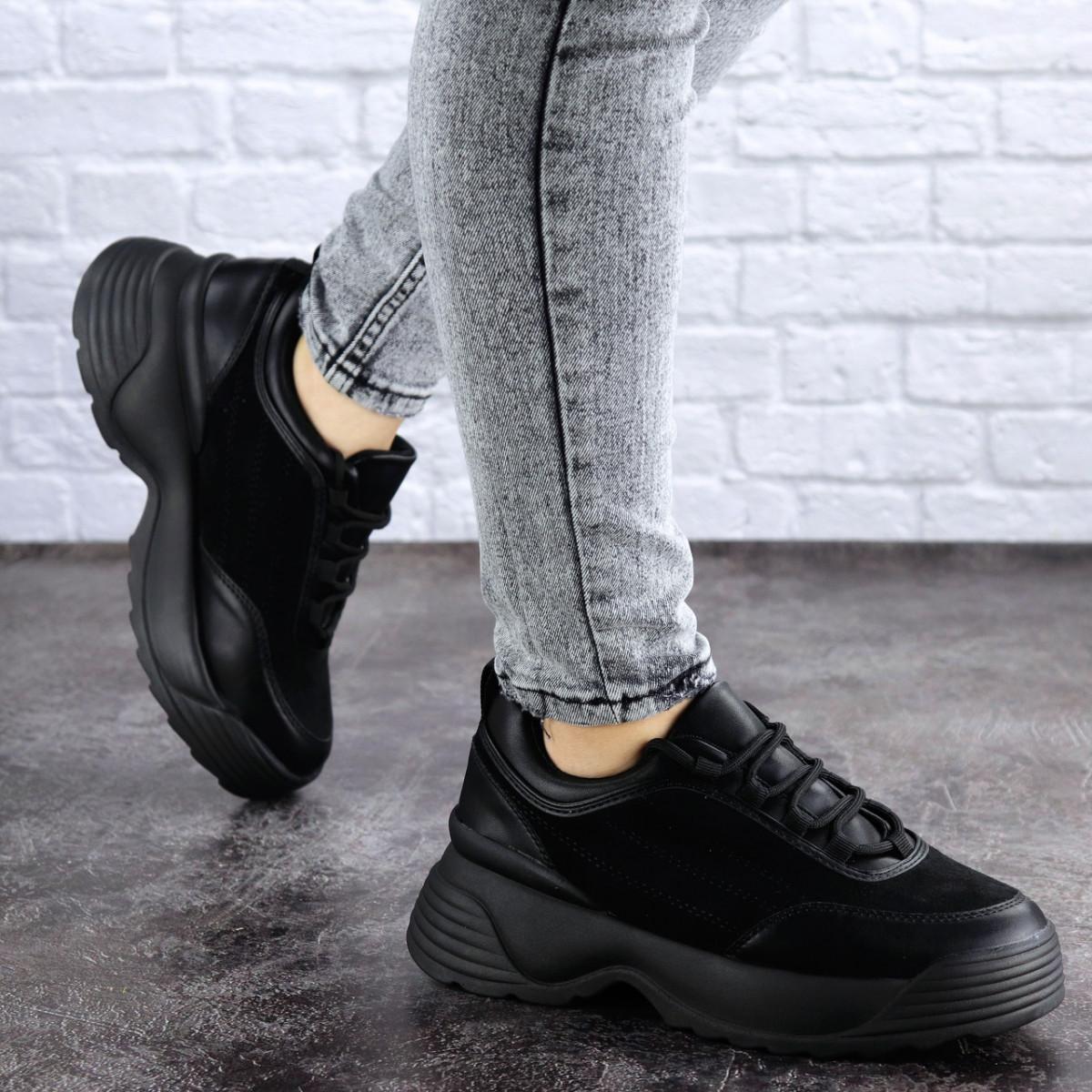 Женские кроссовки черные Auggie 1958 (36 размер)