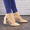 Туфли женские Nelly бежевые на каблуках 1472 (40 размер), фото 2