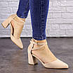 Туфли женские Nelly бежевые на каблуках 1472 (40 размер), фото 4