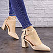 Туфли женские Nelly бежевые на каблуках 1472 (40 размер), фото 5
