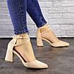 Туфли женские Nelly бежевые на каблуках 1472 (40 размер), фото 6