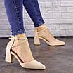 Туфли женские Nelly бежевые на каблуках 1472 (40 размер), фото 9