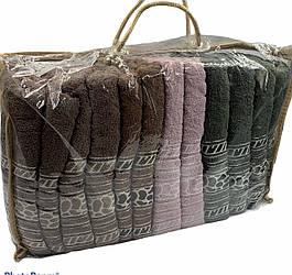 """Полотенце 70х140 махровое """"Камушки"""" - упаковка 12 шт."""