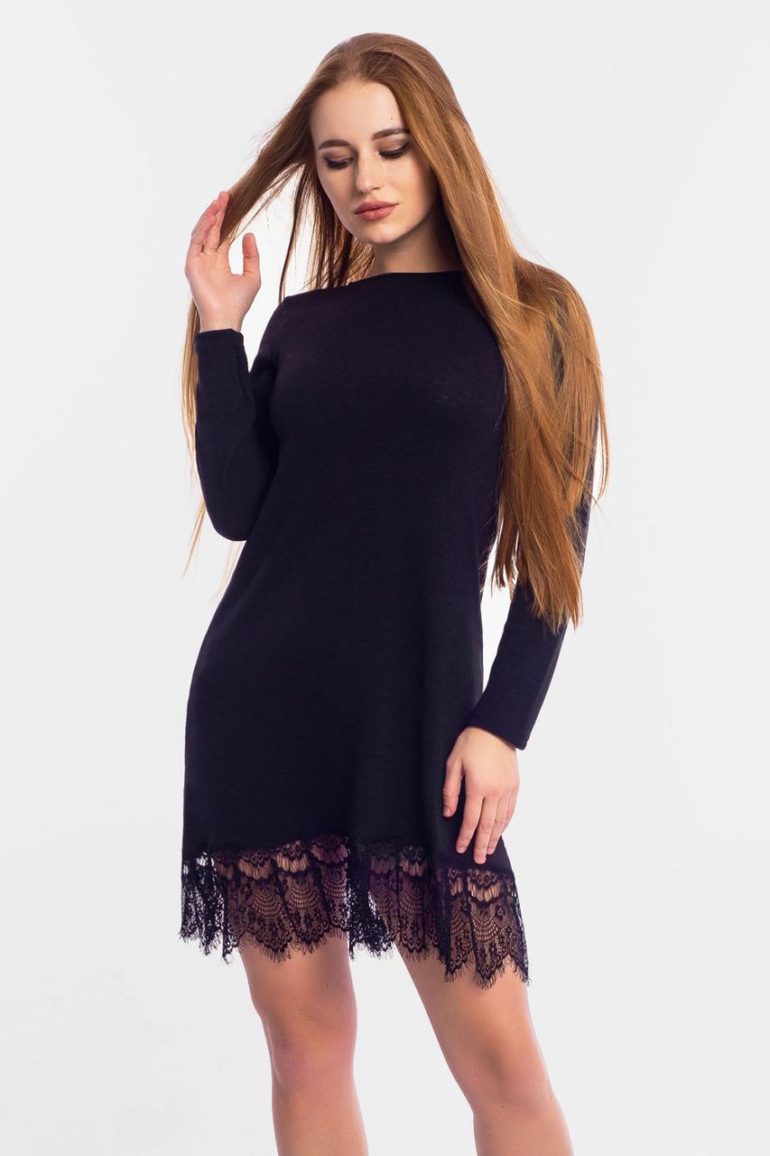 S, M, L   Жіноче плаття з ангори Rachel, чорний