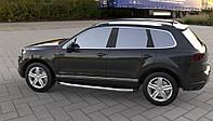 Боковые пороги Fullmond (2 шт, алюм) Volkswagen Touareg 2010-2018 гг.