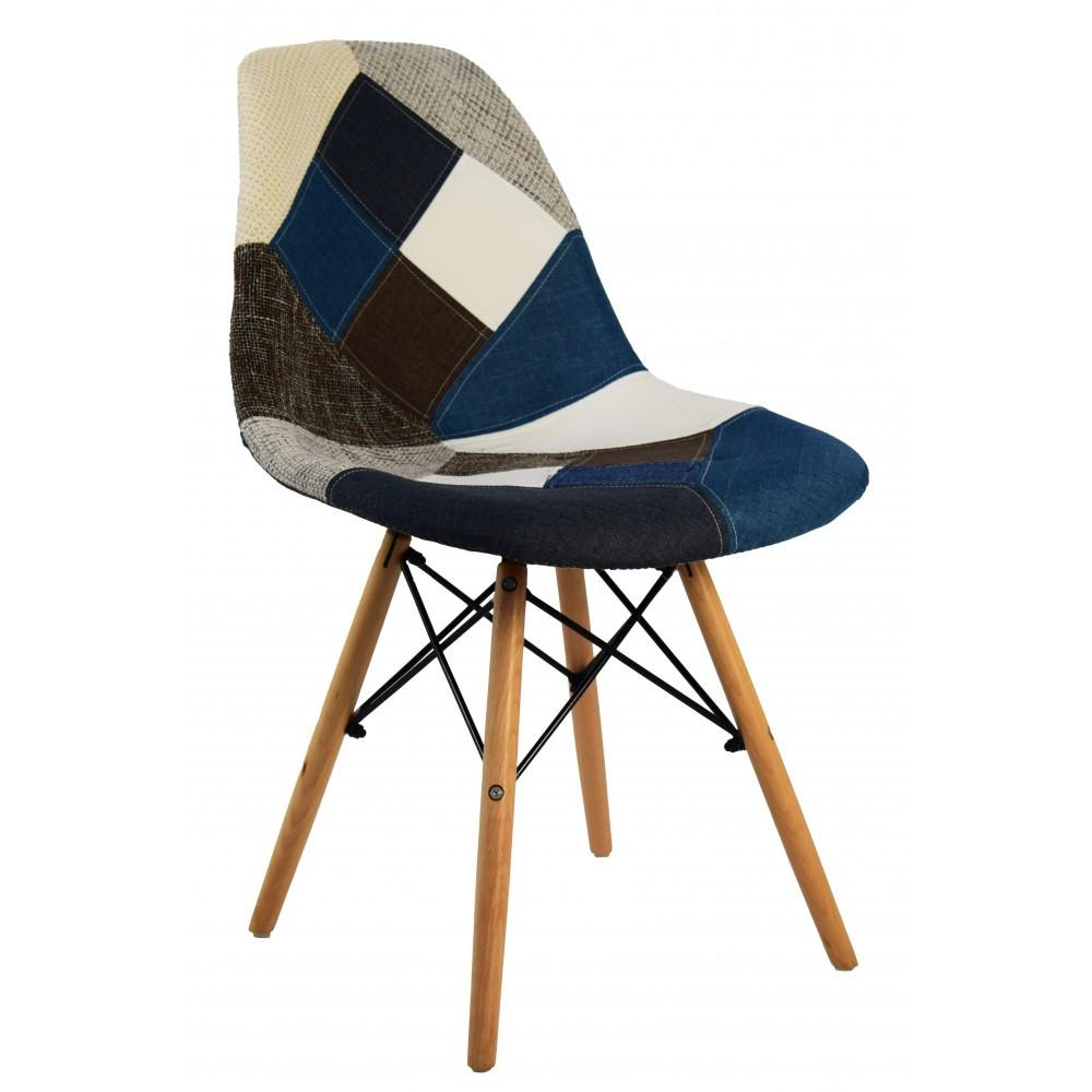 Кресло-Стул с тканевой обивкой В-439 PW BW PATCHWORK ПОЛЬША
