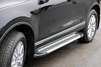 Боковые пороги Line (2 шт., алюминий) Volkswagen Touareg 2002-2010 гг.