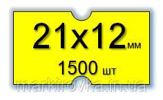 Этикет-лента 21,5х12 мм для 1-строчных этикет-пистолетов. Цвет- желтый